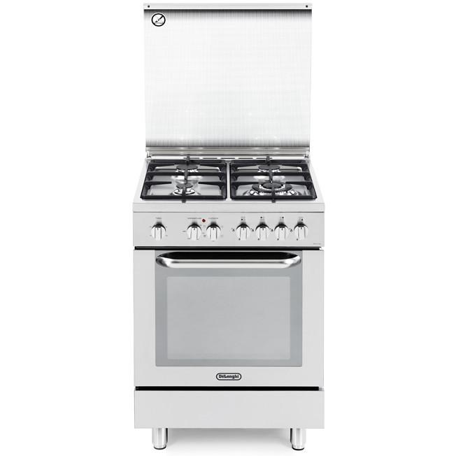 demx 664 de longhi cucina 60x60 cm 4 fuochi forno elettrico inox