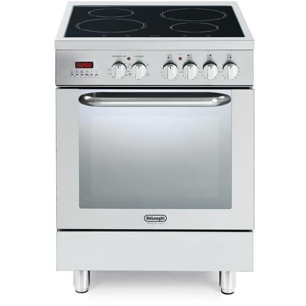 demx-664in cucina delonghi 60x60 piano a induzione 4 zone forno elettrico inox