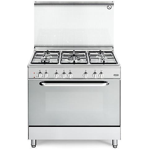 demx-965 de longhi cucina 90x60 5 fuochi a gas forno elettrico inox