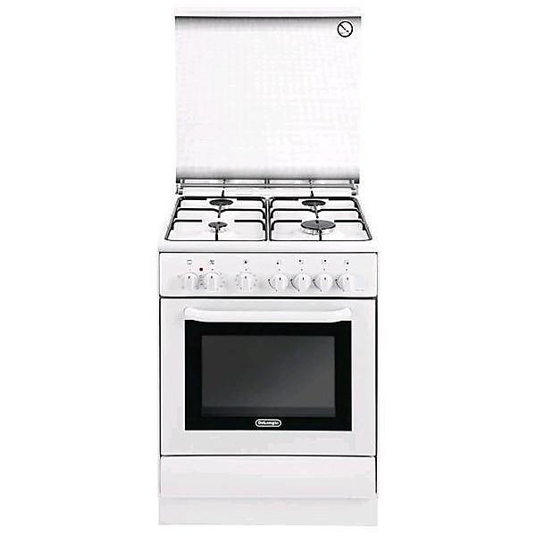 dew 664 de longhi cucina 60x60 cm 4 fuochi a gas forno elettrico bianca