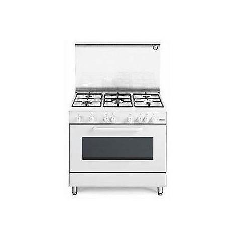 dgw 965 de longhi cucina 90x60 cm 5 fuochi forno elettrico bianca