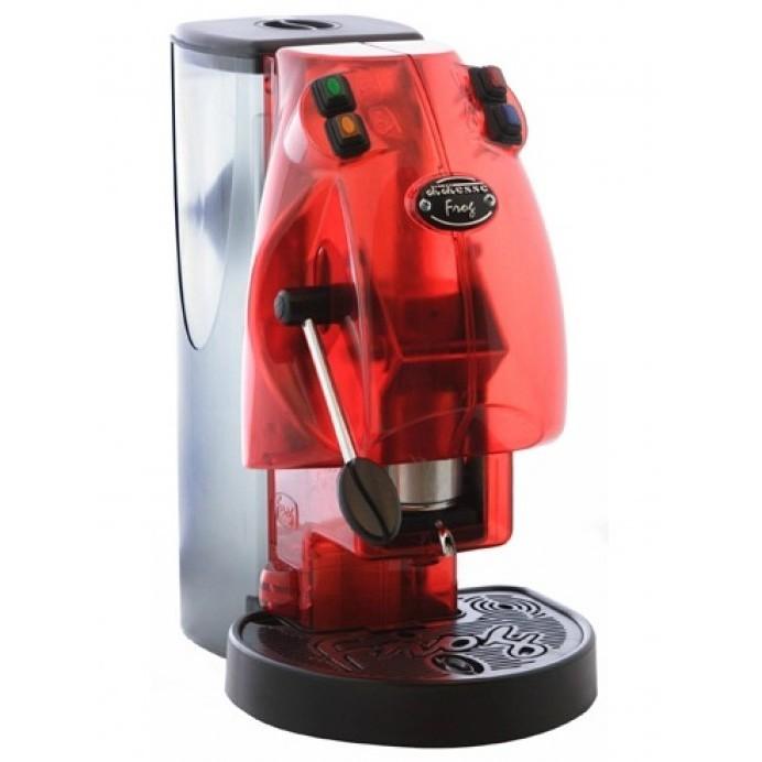 Didiesse Frog Base macchina per caffè a cialde senza cappuccinatore Colore Rosso Trasparente