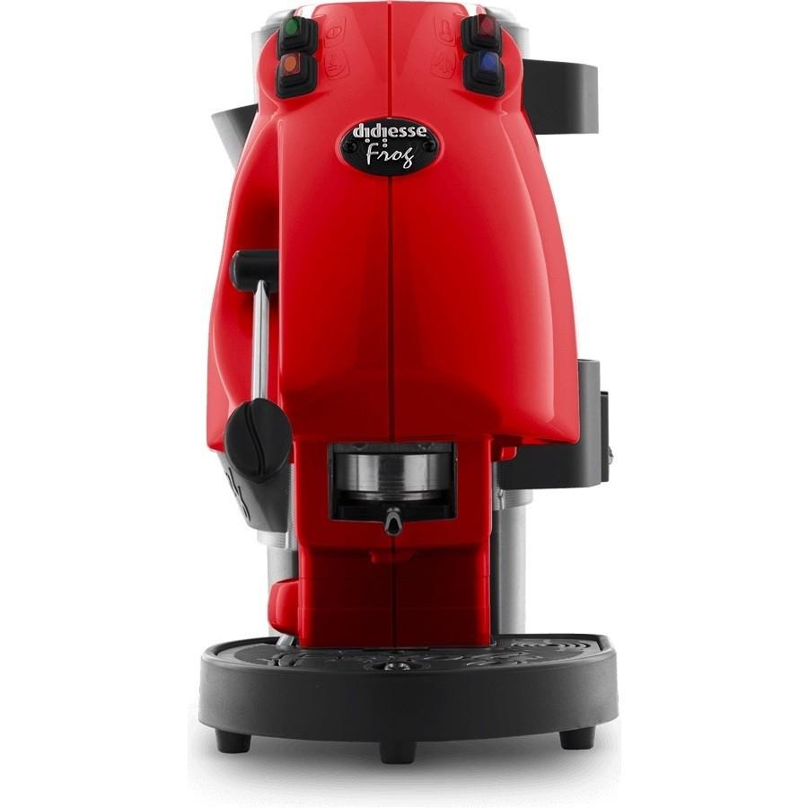 Didiesse Frog Revolution Vapor macchina del caffè a cialde con cappuccinatore colore rosso