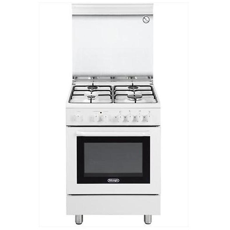 dmw-664 de longhi cucina 60x60 cm 4 fuochi forno elettrico bianca ... - Cucina 4 Fuochi Forno Elettrico