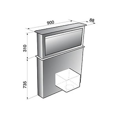 down draft 60 cm vetro tecnowind cappa