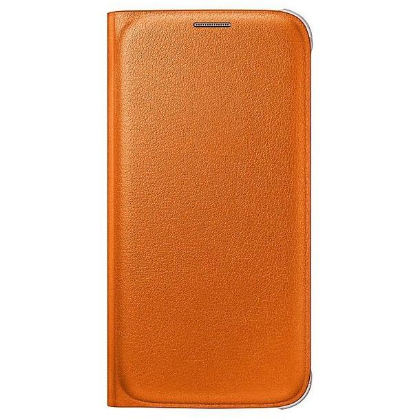ef-wg920poeg flip wallet pu orange galaxy s6