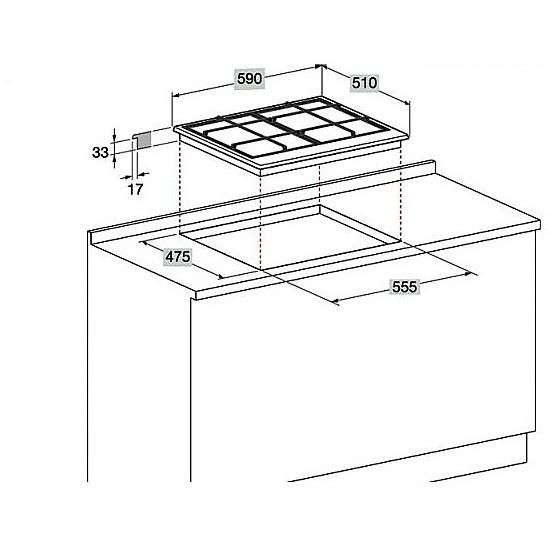 ehp-640tx hotpoint ariston piano cottura da 60 cm