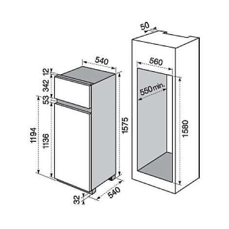 ejn-2702aow electrolux frigorifero doppiaporta classe a++ 274 litri