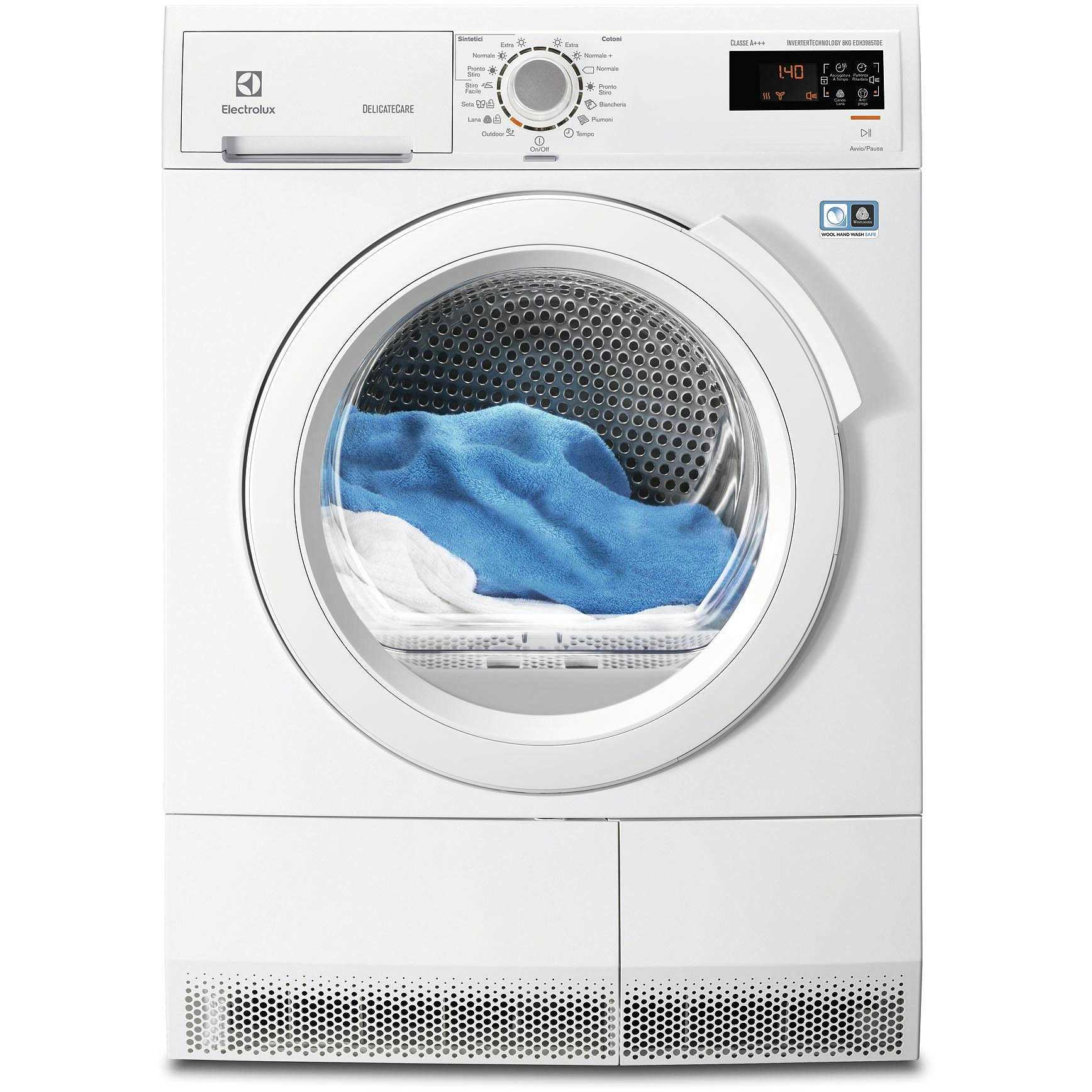Electrolux edh3985tde asciugatrice a pompa di calore 8 kg for Asciugatrice a pompa di calore