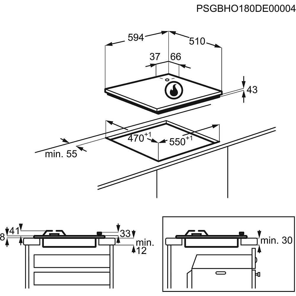 Electrolux EGS6414T piano cottura a gas 60 cm 4 fuochi colore terra ...