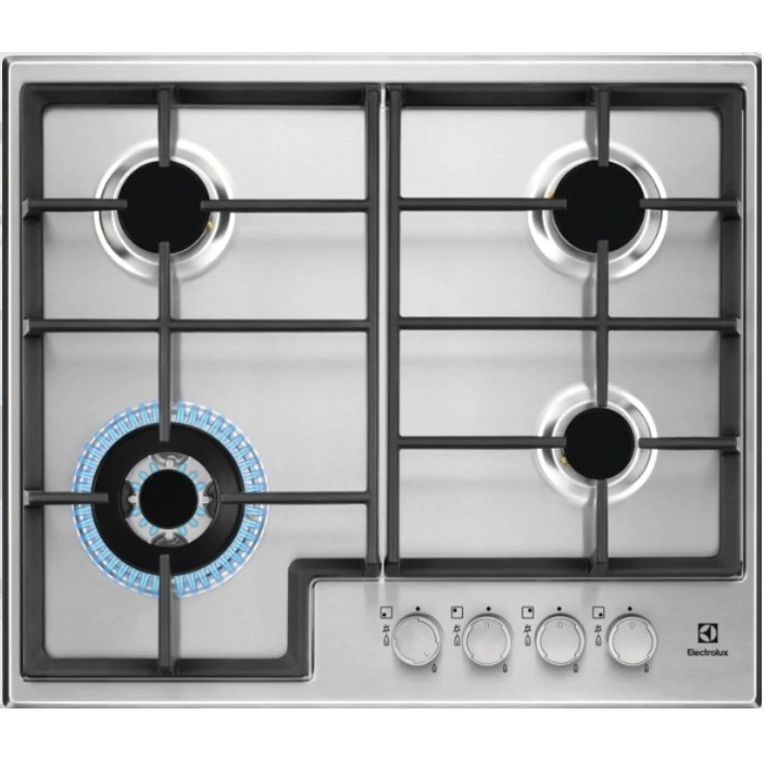 Electrolux EGS6436X Piano cottura a gas 60 cm 4 Fuochi griglie in ...