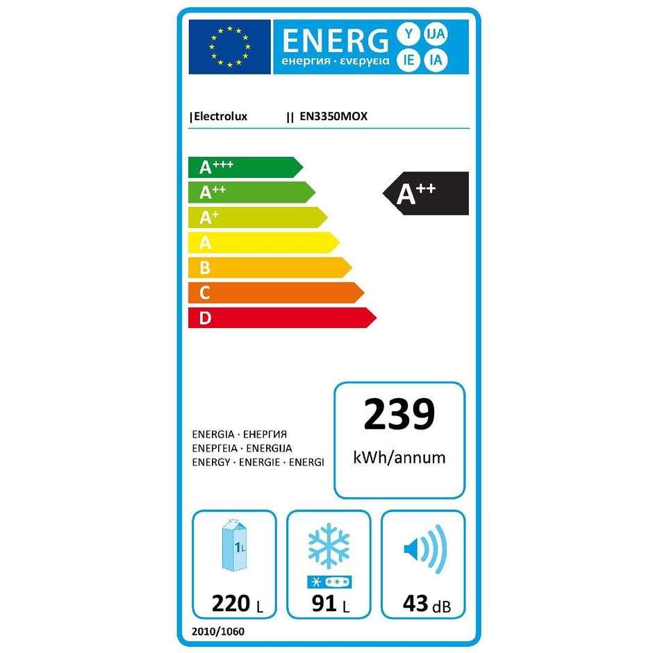Electrolux EN3350MOX frigorifero combinato 311 litri classe A++ No Frost colore inox