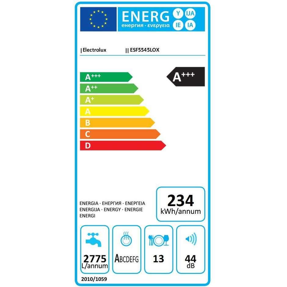 Electrolux ESF5545LOX Lavastoviglie 13 Coperti Classe A+++ Colore Inox