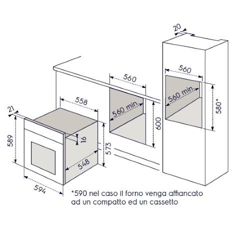 Electrolux rob2210aox forno elettrico ventilato da incasso - Forno elettrico ventilato da incasso prezzi ...