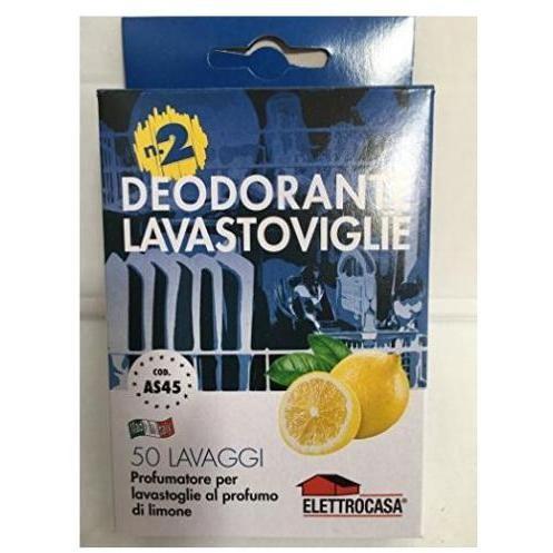 Elettrocasa AS45 Deodorante al limone per lavastoviglie 2 pezzi