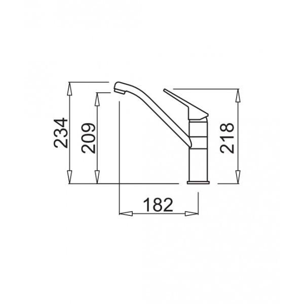 Elleci MGKTES59 Teseo miscelatore monocomando con canna girevole Granitek colore Antracite 59
