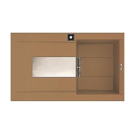 emi40075dx elleci lavello sirex 400 86x51,6 1 vasca bronze 75 elettronico vasca dx