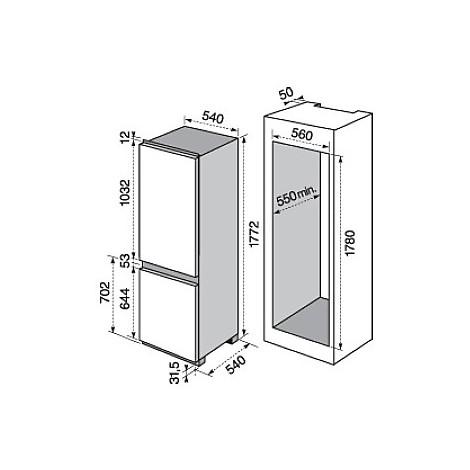 enn-2802aow electrolux frigorifero combinato classe a++ 280 litri combinato