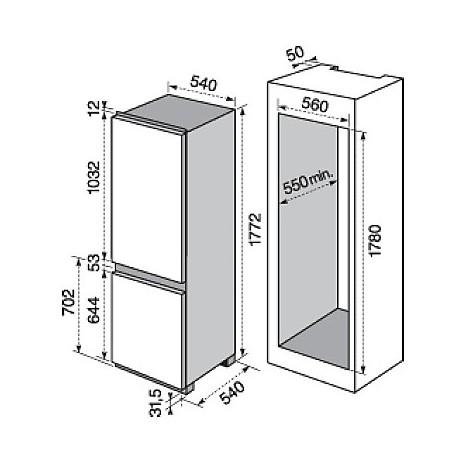 enn-2841aow electrolux frigorifero combinato classe a+ 280 litri combinato fresh frost free