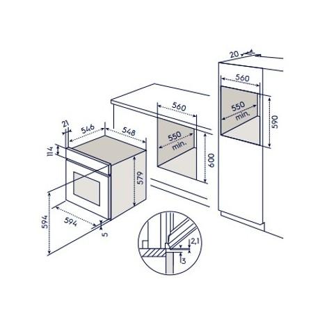 eob-8747aox electrolux forno da incasso funzione a vapore classe a+ inox