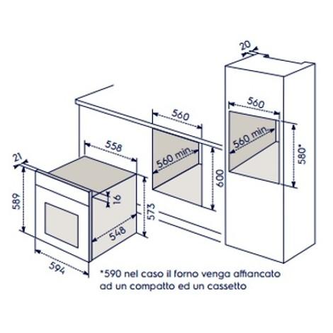 eoc-5400aox electrolux forno da incasso pirolitico classe a+ inox