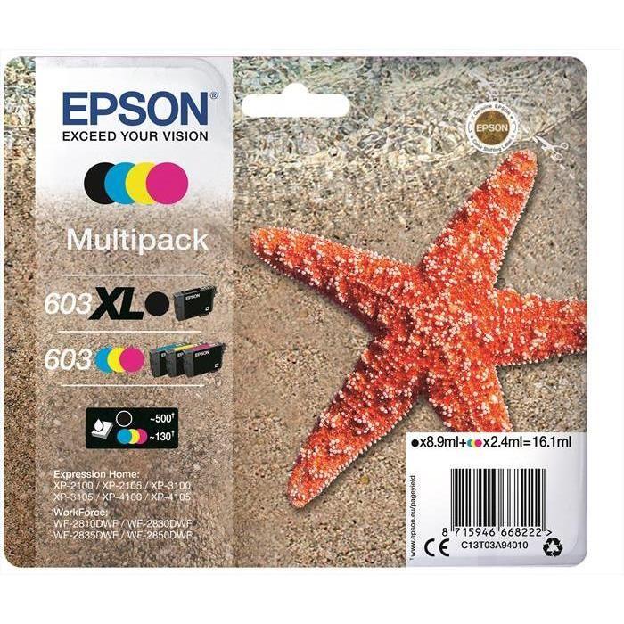 Epson 603 multipack nero xl e colore stella marina
