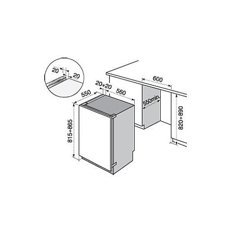 ern-1200fow electrolux frigorifero sottotavolo classe a+ 119 litri