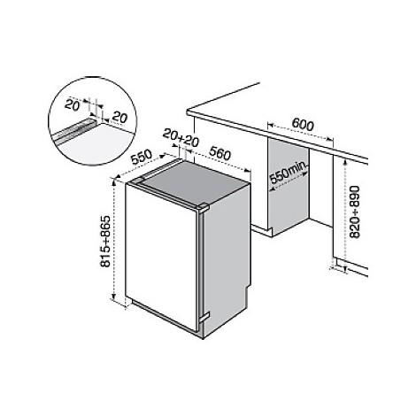 ern-1300aow electrolux frigorifero sottotavolo classe a+ 135 litri sottotavolo