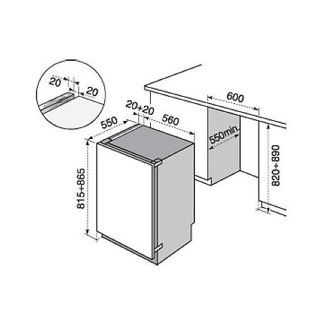 eun-1100fow electrolux congelatore classe a+ 108 litri sottotavolo