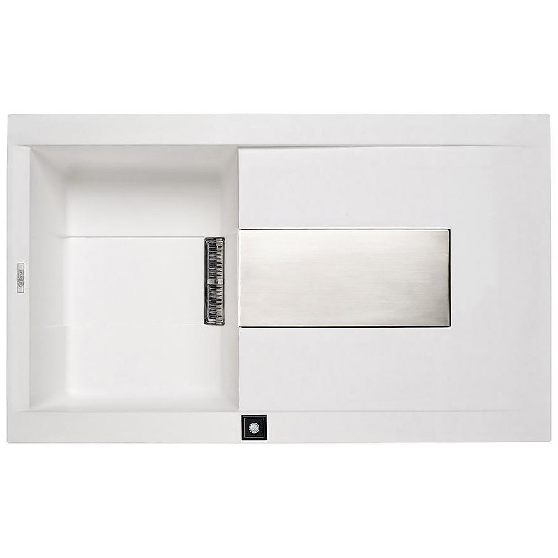 evi40092 elleci lavello sirex 400 86x51,6 1 vasca old white 92 elettronico vasca sx