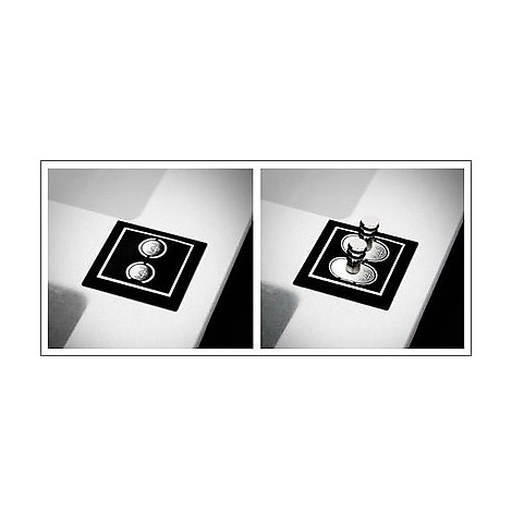 evi40096 elleci lavello sirex 400 86x51,6 1 vasca white 96 elettronico vasca sx
