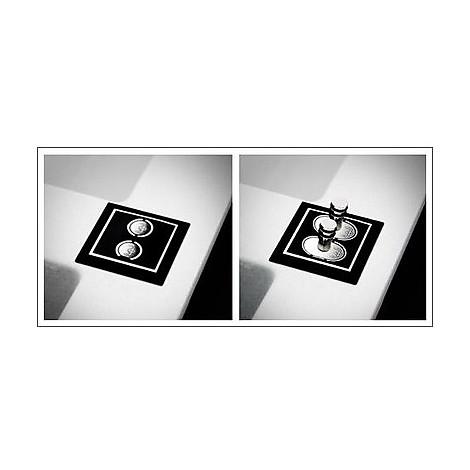 evi40096dx elleci lavello sirex 400 86x51,6 1 vasca white 96 elettronico vasca dx