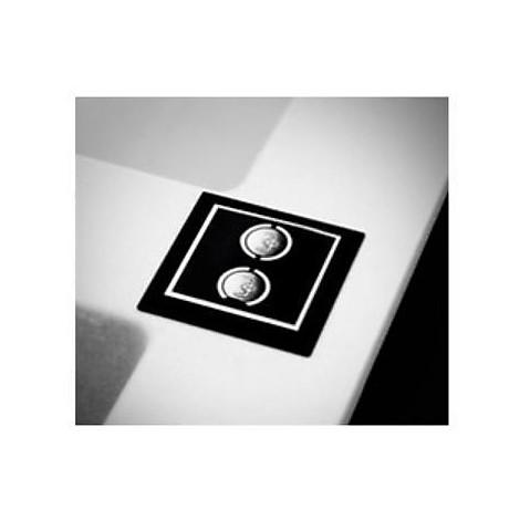 evi50086dx elleci lavello sirex 500 116x51,6 2 vasche black 86 elettronico vasca dx