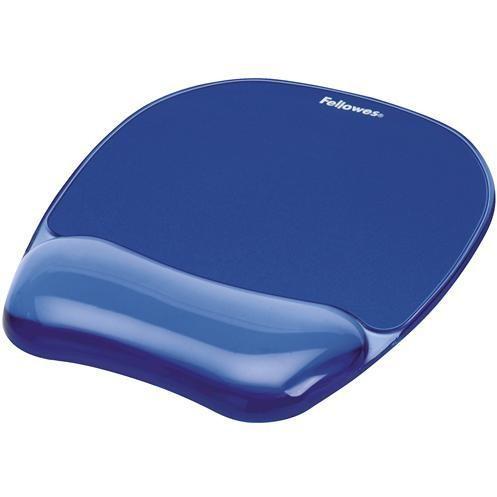 Fellowes 9114120 tappetino mouse con poggiapolsi in gel colore blu