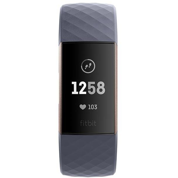 Fitbit FB409RGGY-EU Charge 3 Smartwatch Fitness Tracker Touchscreen Bluetooth colore Grigio, Rose gold