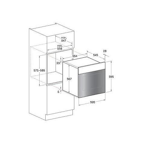 fkq-89e0(w)/ha hotpoint/ariston forno da incasso classe a 59 litri
