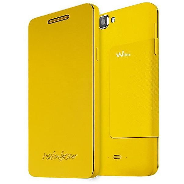 folio cover yellow rainbow wiko