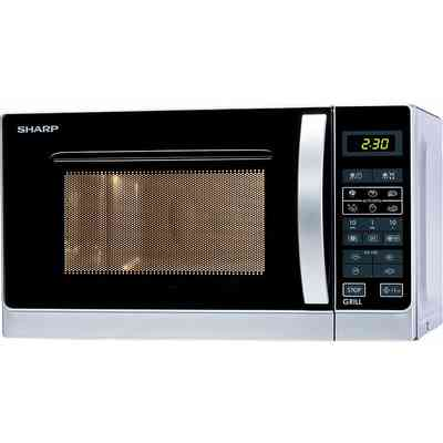 SHARP forno a microonde r-642inw sharp 20 lt con grill Argento