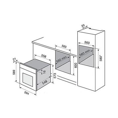 fq-13b electrolux forno da incasso classe a bianco