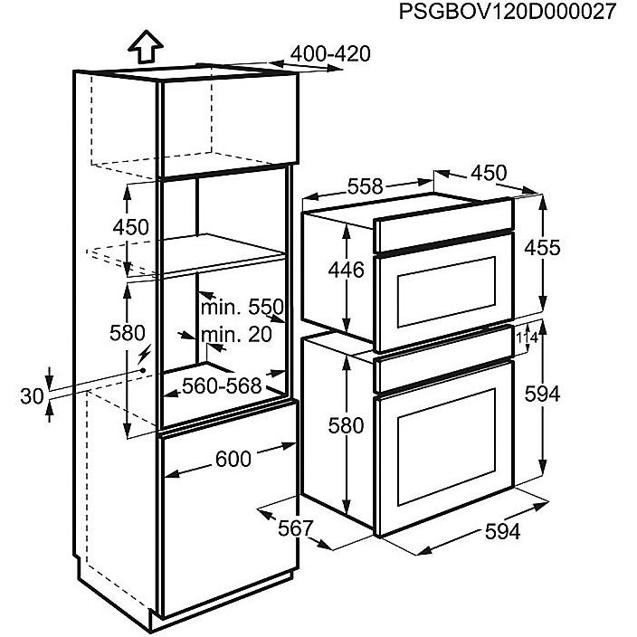 fqm-462cxe rex forno microonde da incasso 38 litri con grill - Forni ...