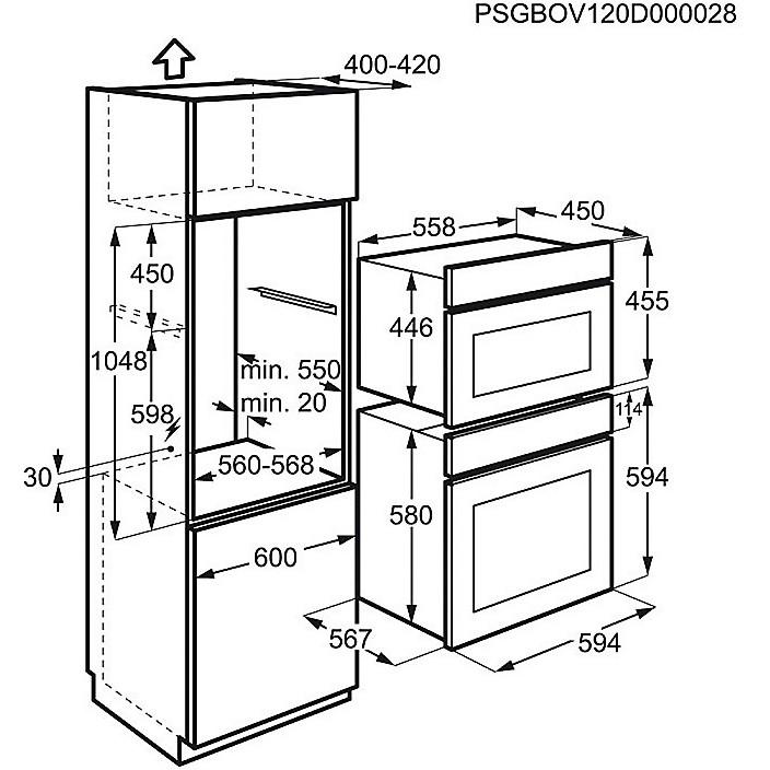 fqm-463cbe rex forno microonde da incasso 38 litri - Forni Da ...