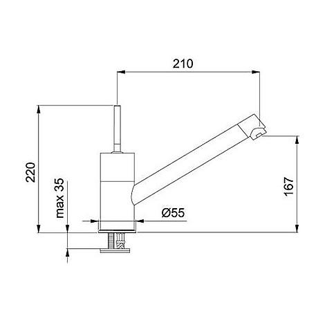 Franke 0738196 Jolly Fast miscelatore monocomando cromato con canna girevole 115.0260.993