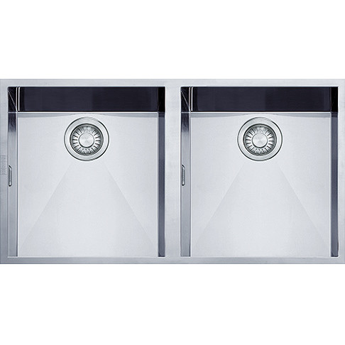 Franke 8586845 PPX 120 Planar lavello 84x45 2 vasche sottotop senza ...