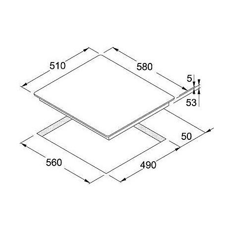 Franke 9010013 FH 604-1 4I T PWL Piano cottura a induzione 60 cm 4 ...