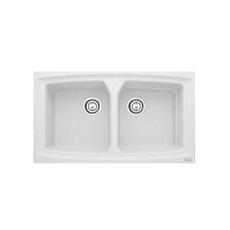 Franke 9899331 ATG 620 Atmosfera lavello 86x50 2 vasche senza gocciolatoio fragranite colore bianco 114.0154.097