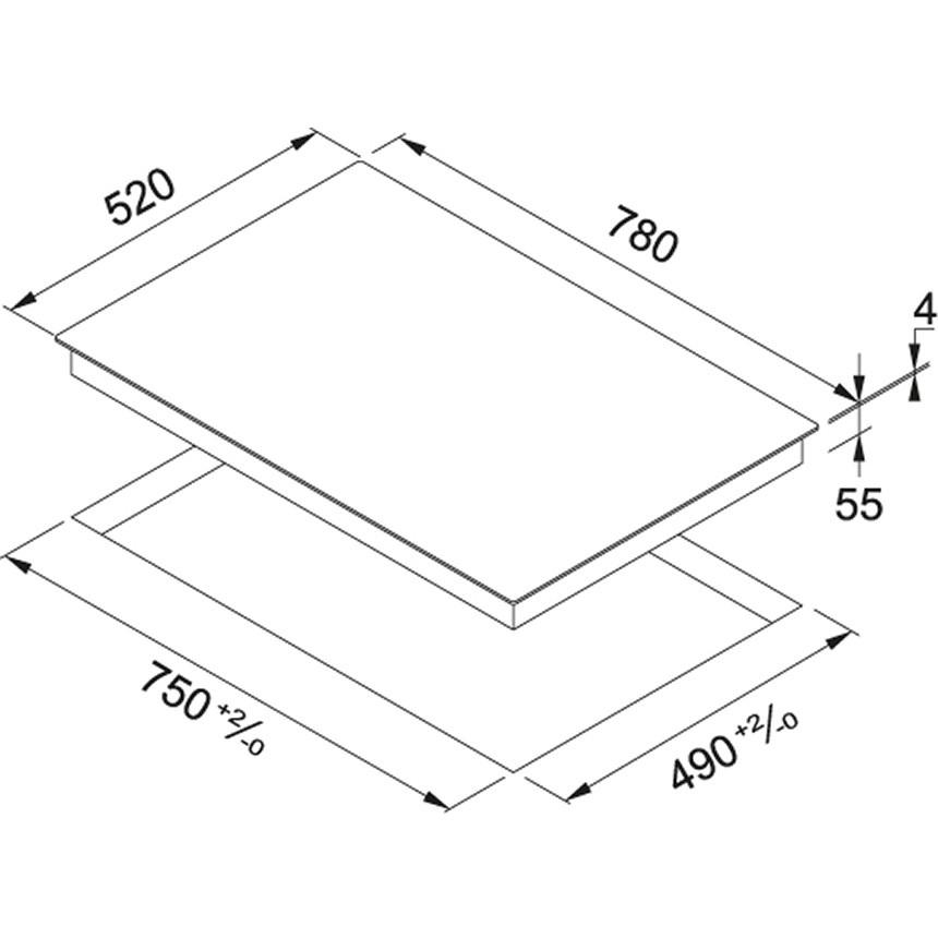 Franke Smart FHSM 804 4I BK Piano cottura a induzione 80 cm ...