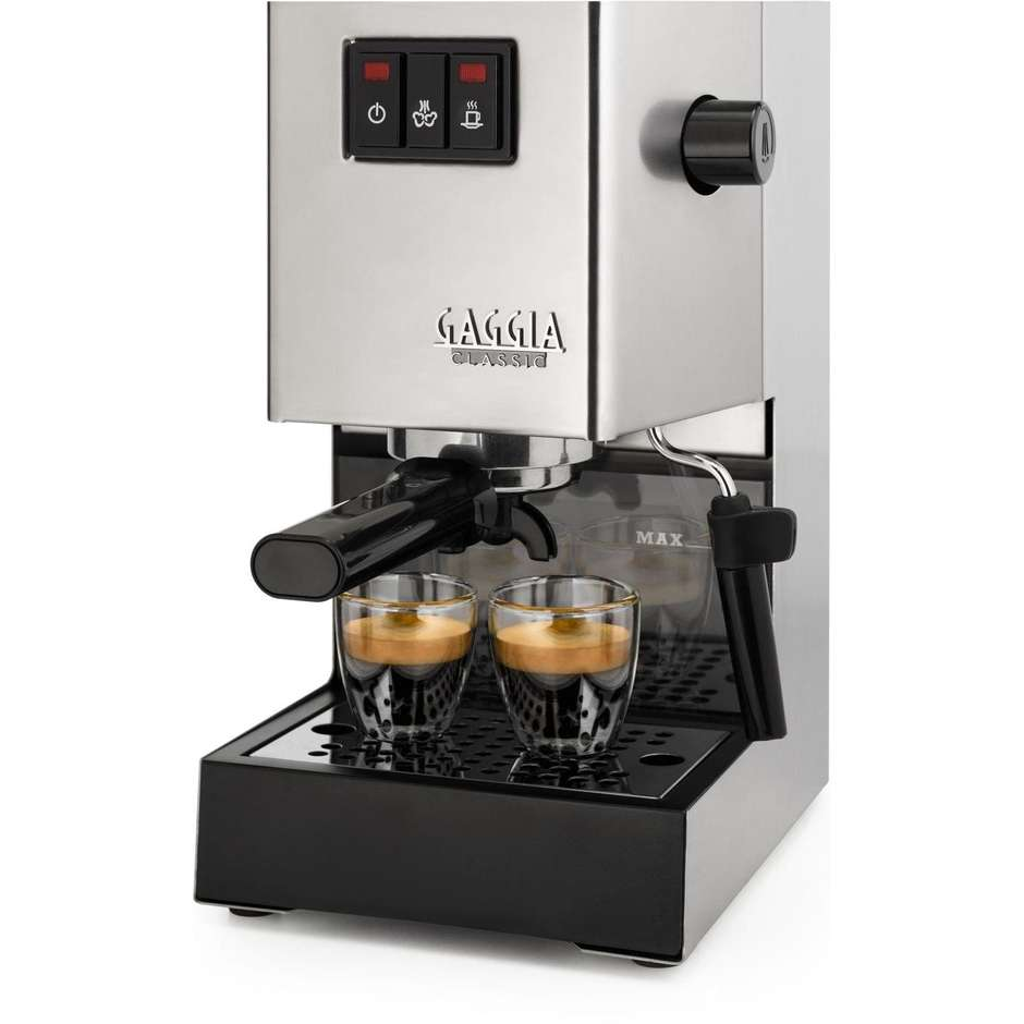 Gaggia RI9403/11 macchina da caffè manuale 2,1 litri 15 Bar 2 tazze colore Acciaio inox, Nero