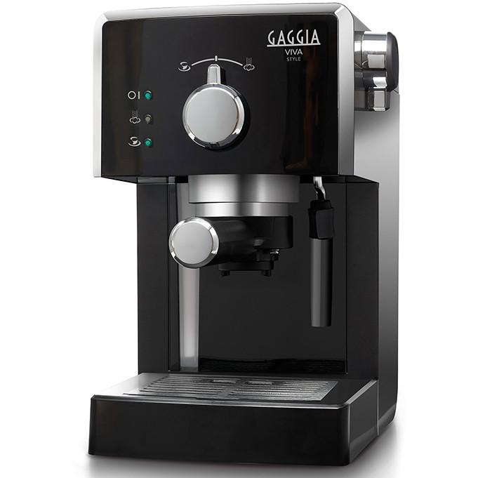 Gaggia Viva RI8433/11 macchina da caffè manuale 1,25 litri macinato/cialde 15 bar Nero, Argento