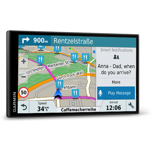 garmin drivesmart 61 lmt d navigatore gps 6 95 mappa. Black Bedroom Furniture Sets. Home Design Ideas