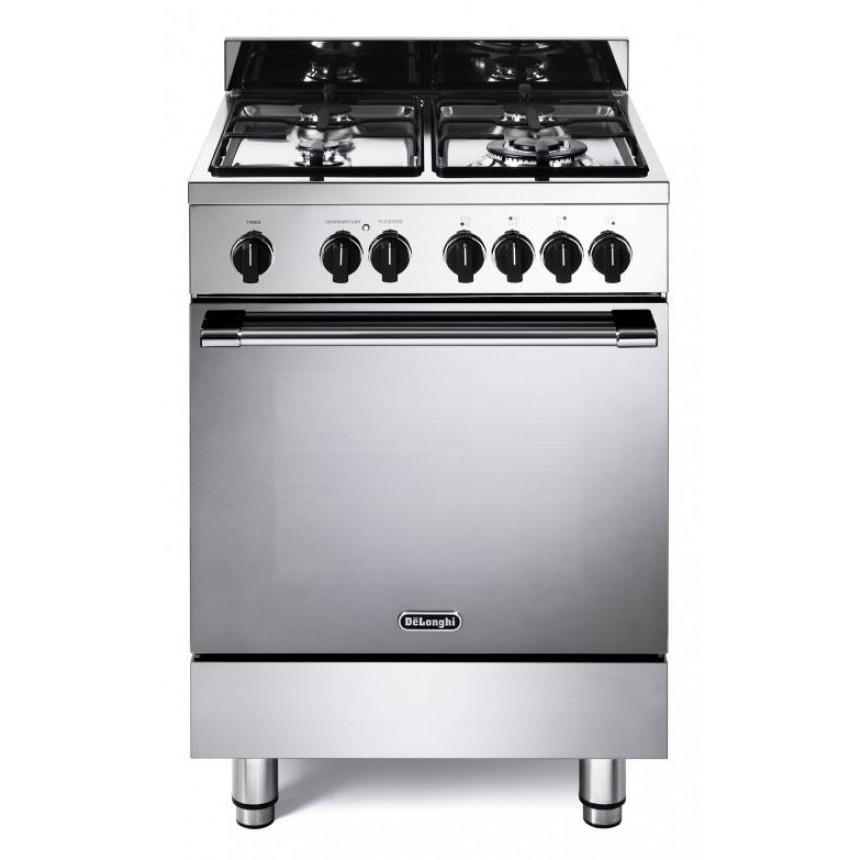 Gemma 66m delonghi cucina 60x60 4 fuochi a gas forno - Delonghi cucina a gas ...